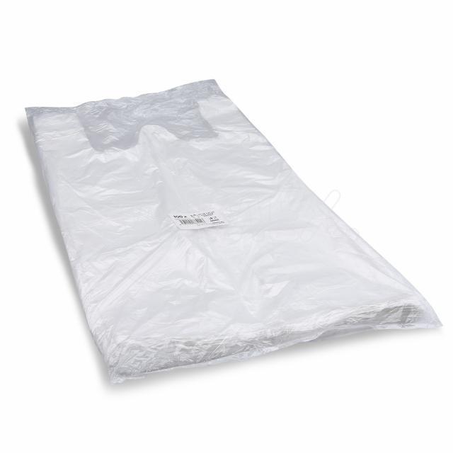 Taška 10kg bílá 30+18 x 55 cm [100 ks]