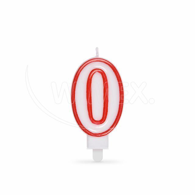 """Svíčka číslová """"0"""" 75 mm [1 ks]"""