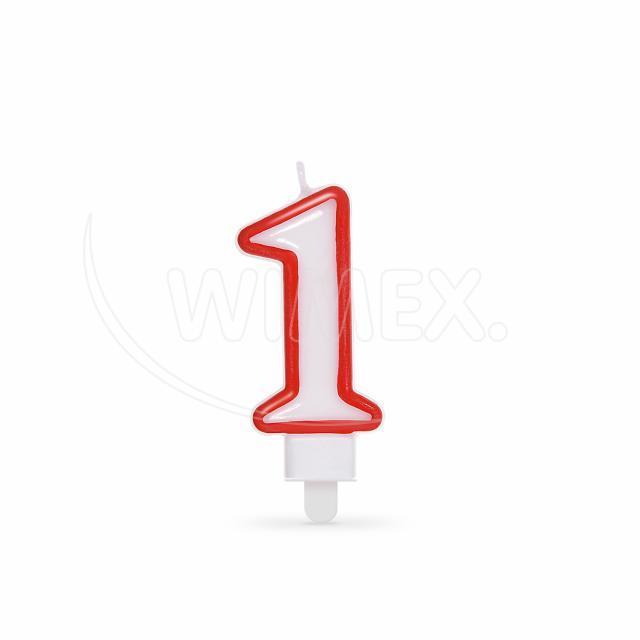 """Svíčka číslová """"1"""" 75 mm [1 ks]"""