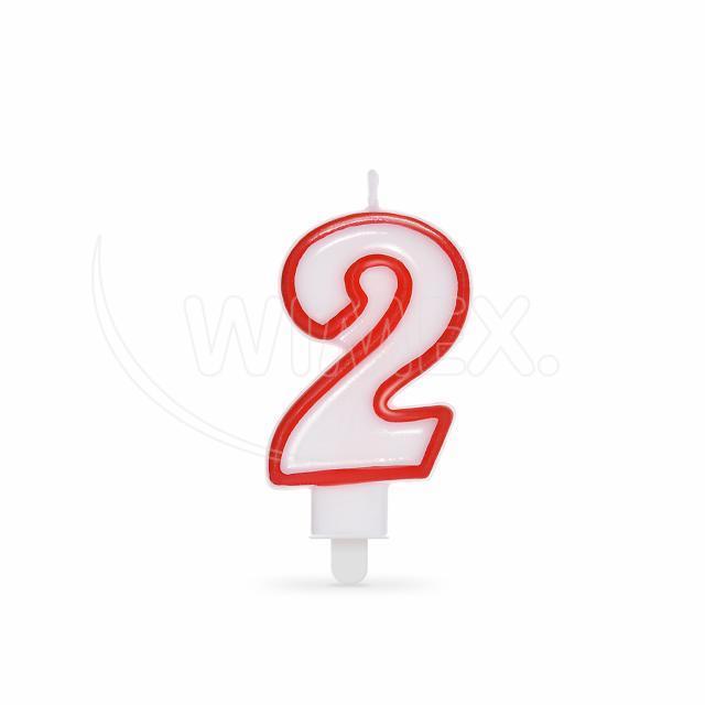 """Svíčka číslová """"2"""" 75 mm [1 ks]"""