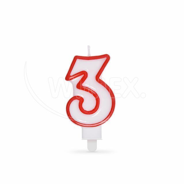 """Svíčka číslová """"3"""" 75 mm [1 ks]"""