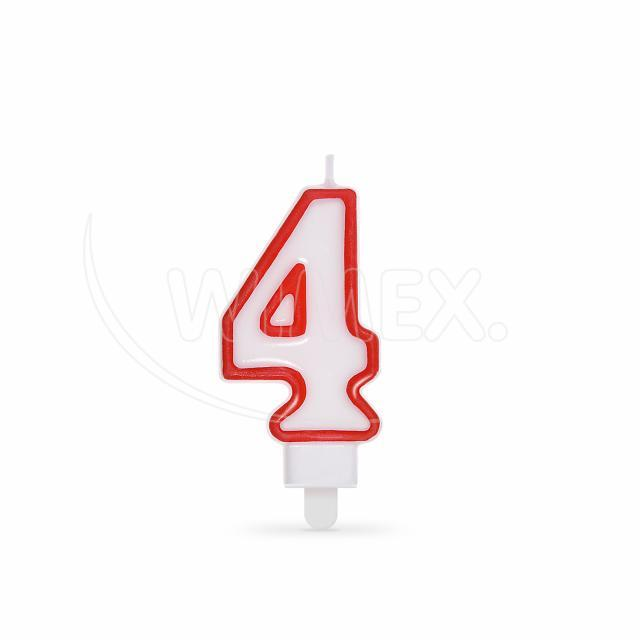 """Svíčka číslová """"4"""" 75 mm [1 ks]"""