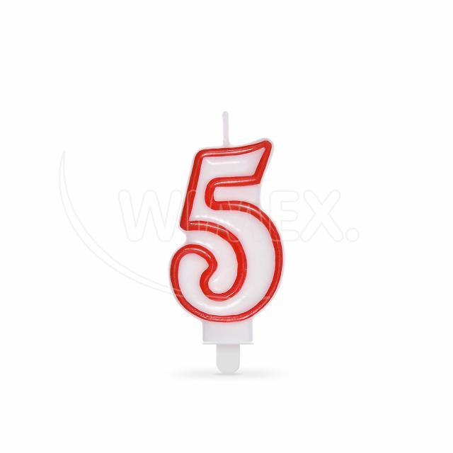 """Svíčka číslová """"5"""" 75 mm [1 ks]"""