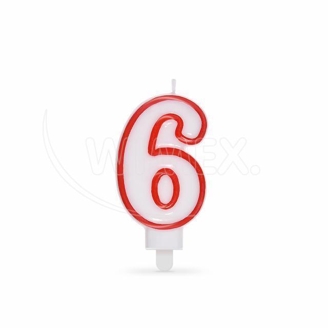 """Svíčka číslová """"6"""" 75 mm [1 ks]"""