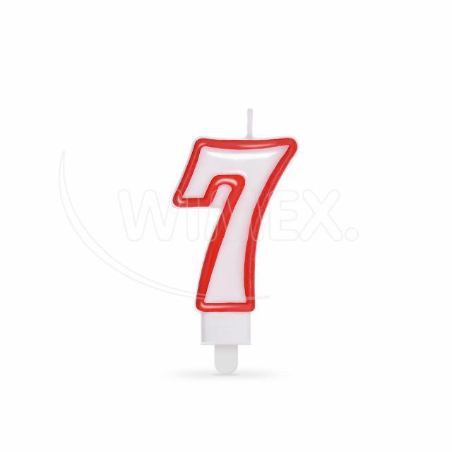 """Svíčka číslová """"7"""" 75 mm [1 ks]"""