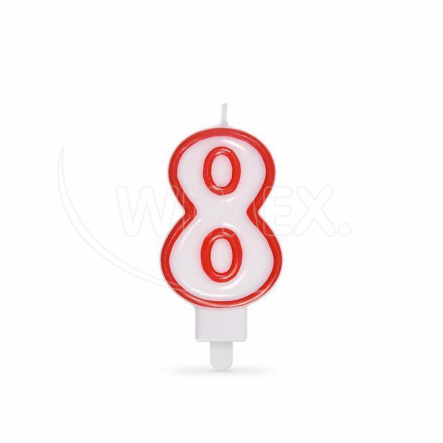 """Svíčka číslová """"8"""" 75 mm [1 ks]"""