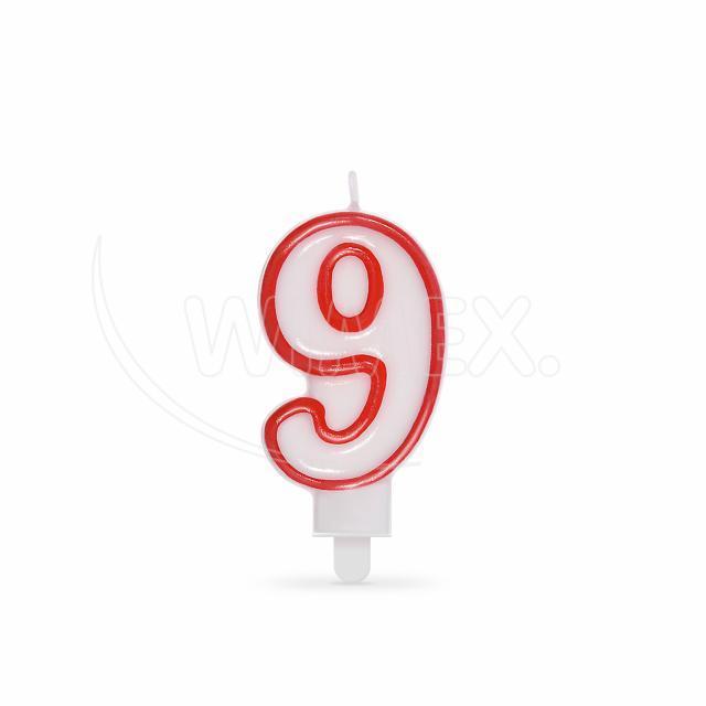 """Svíčka číslová """"9"""" 75 mm [1 ks]"""