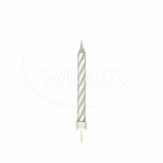 Svíčka narozeninová velká se stojánkem 80 mm [8 ks]