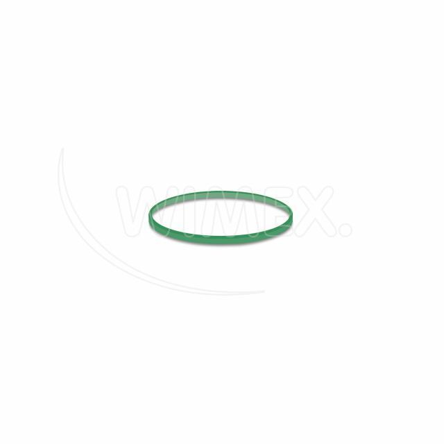 Gumička zelená slabá (1 mm, Ø 4 cm) [1 kg]