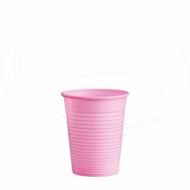 Kelímek růžový 0,18 l -PS- (Ø 70 mm) [50 ks]