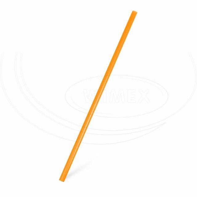 Slámka JUMBO oranžová 25 cm, Ø 8 mm [150 ks]