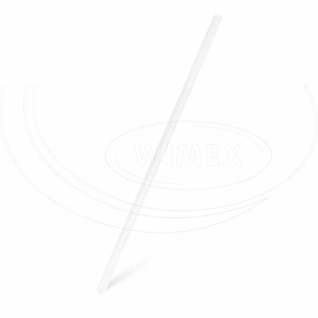 Slámka JUMBO bílá 25 cm, Ø 8 mm [150 ks]