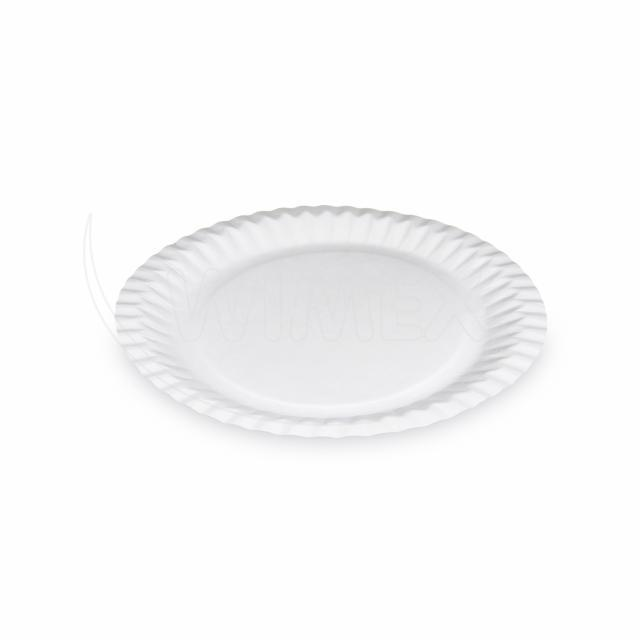Papírový talíř mělký Ø 23 cm [15 ks]