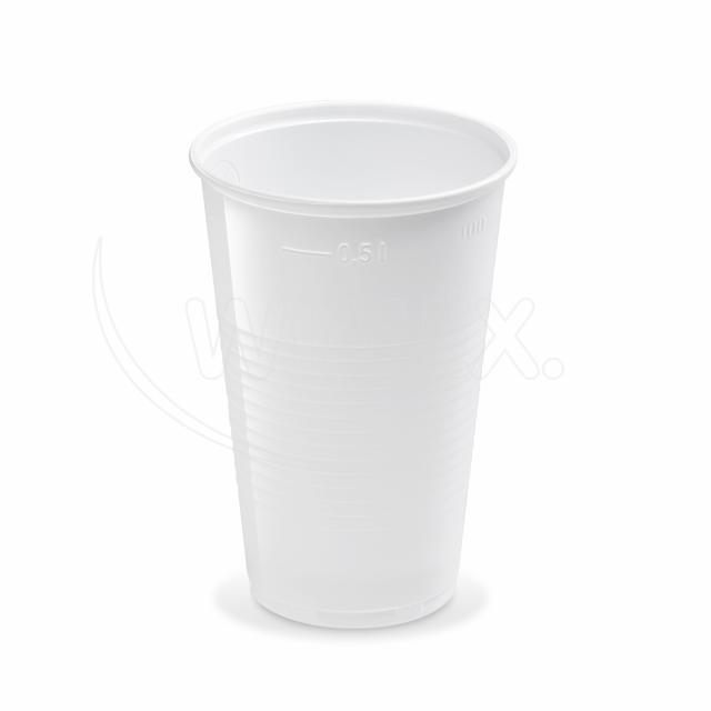 Kelímek bílý 0,5 l (PP) [10 ks]