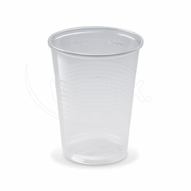 Kelímek průhledný 0,4 l -PP- (Ø 95 mm)  [50 ks]