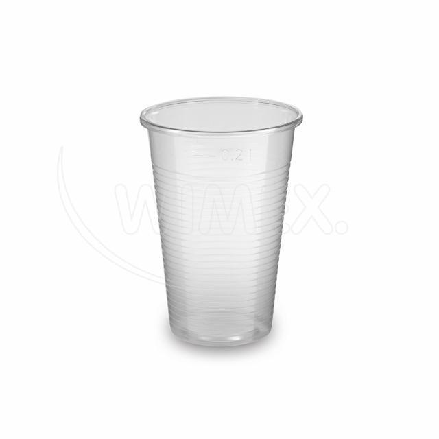 Kelímek transparentní 0,2 l -PP- (Ø 70 mm) [100 ks]
