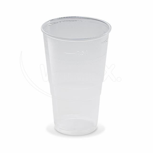 Kelímek průhledný 0,5 l (PP) [10 ks]