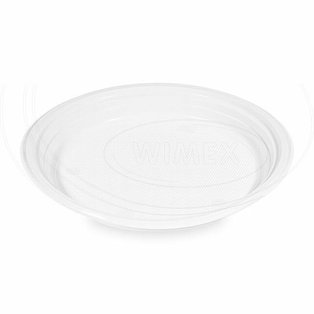 Talíř bílý (PP) Ø 22 cm [10 ks]