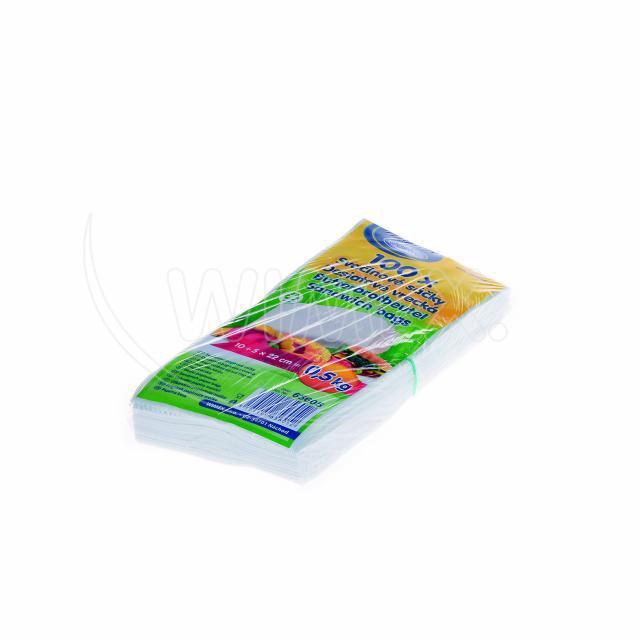 Svačinový papírový sáček 0,5kg (10+5 x 22 cm) [100 ks]