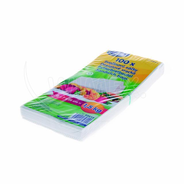 Svačinový papírový sáček 1,5kg (14+7 x 29 cm) [100 ks]