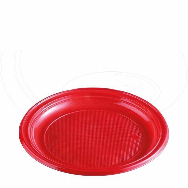 Talíř červený (PS) Ø 22 cm [10 ks]