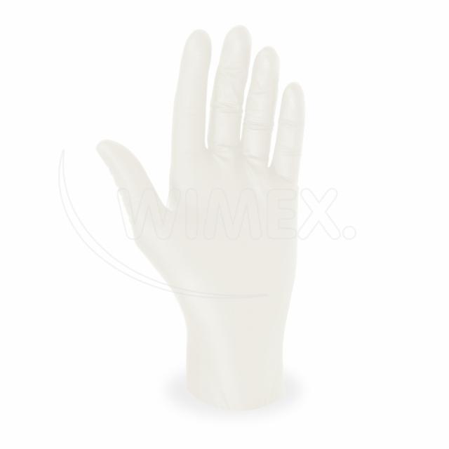 Rukavice latexová bílá, nepudrovaná (velikost L) [100 ks]