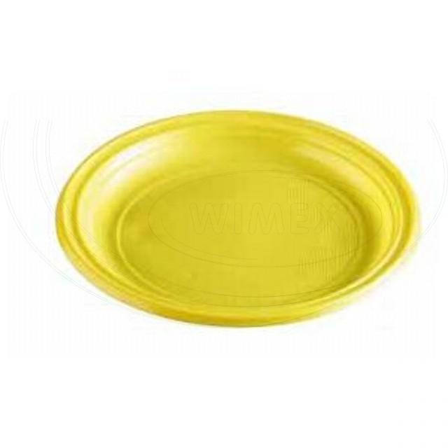 Talíř žlutý (PS) Ø 22 cm [10 ks]