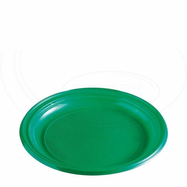 Talíř zelený (PS) Ø 22 cm [10 ks]