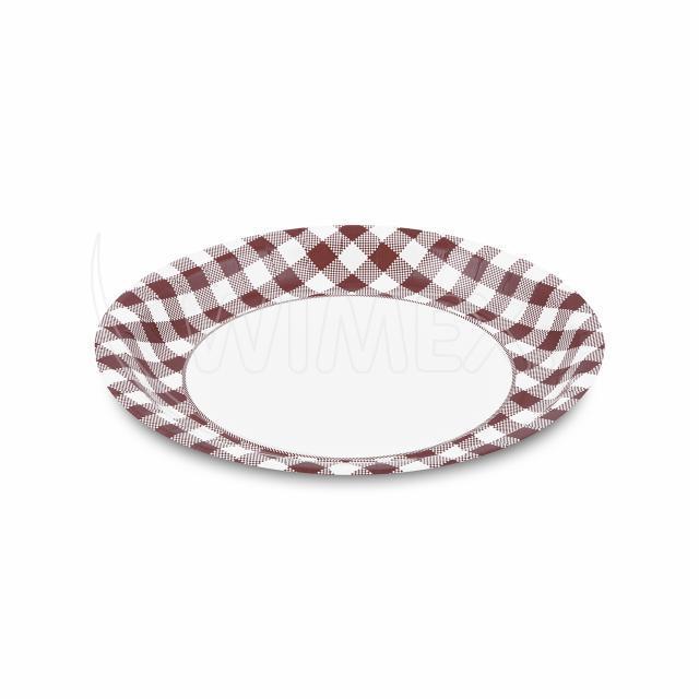 Papírový talíř Ø 23 cm KARO [10 ks]