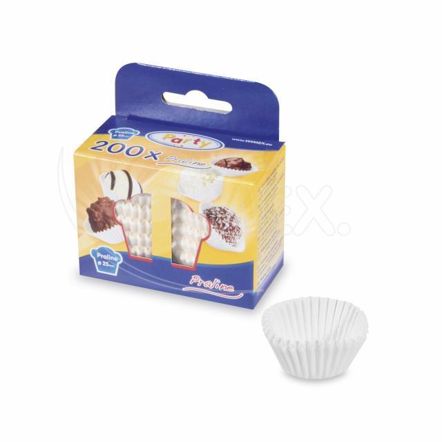 Cukrářský košíček bílý Ø 25 x 18 mm [200 ks]