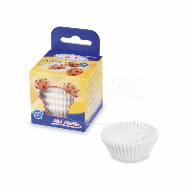 Cukrářský košíček bílý Ø 35 x 20 mm [100 ks]