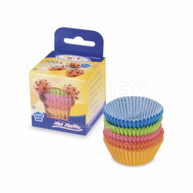 Cukrářský košíček barevný mix Ø 35 x 20 mm [100 ks]