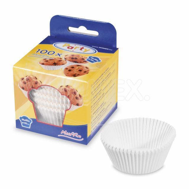 Cukrářský košíček bílý Ø 50 x 30 mm [100 ks]