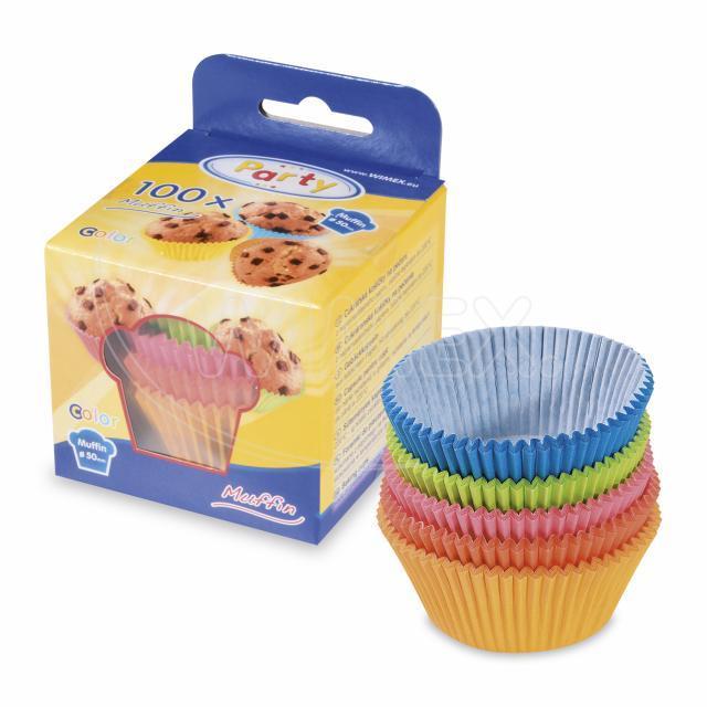 Cukrářský košíček barevný mix Ø 50 x 30 mm [100 ks]