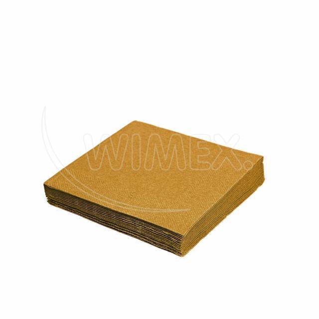 Ubrousek 3vrstvý, 33 x 33 cm zlatý [20 ks]