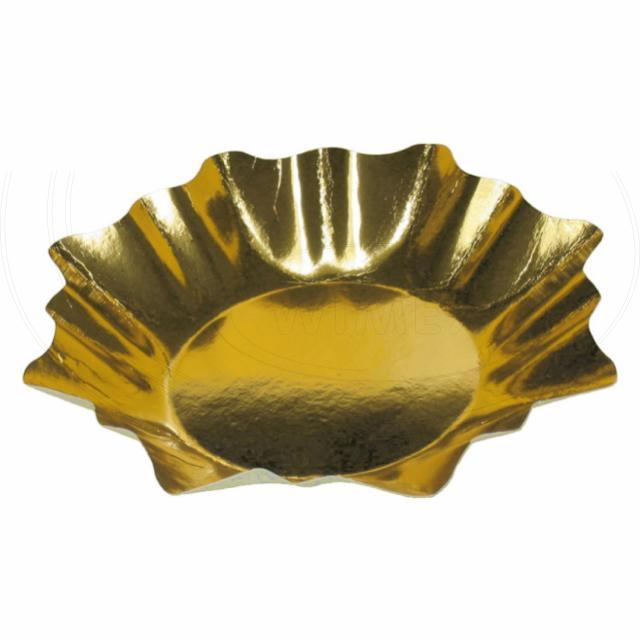Papírový talíř HVĚZDA Ø 28 cm zlatý [2 ks]