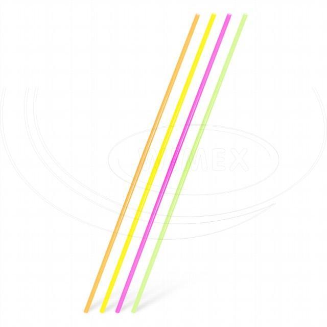 Slámka rovná XXL neon 100 cm, Ø 6,5 mm [100 ks]