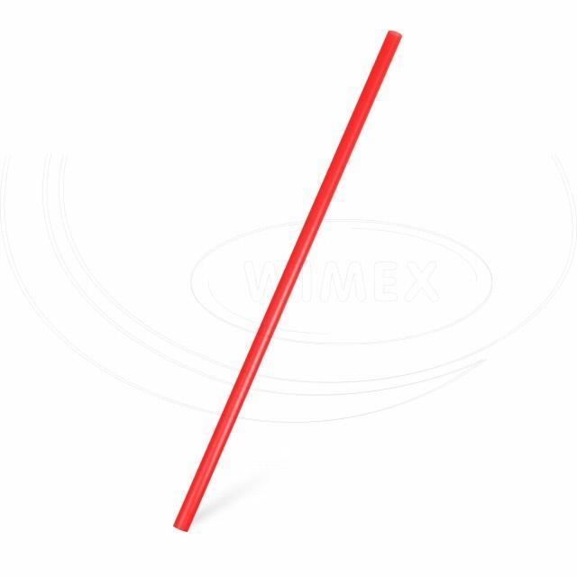 Slámka JUMBO červená 25 cm, Ø 8 mm [150 ks]