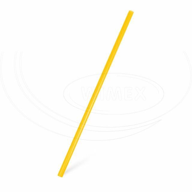 Slámka JUMBO žlutá 25 cm, Ø 8 mm [150 ks]