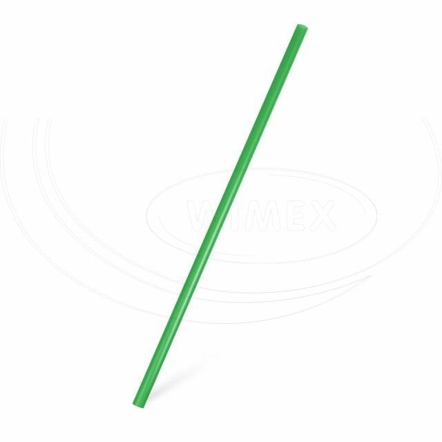 Slámka JUMBO zelená 25 cm, Ø 8 mm [150 ks]