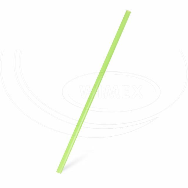Slámka JUMBO žlutozelená 25 cm, Ø 8 mm [150 ks]