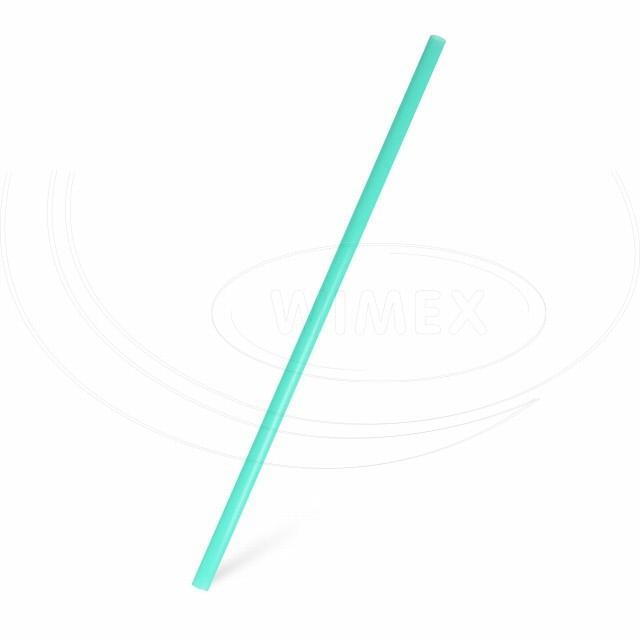Slámka JUMBO mátová zelená 25 cm, Ø 8 mm [150 ks]
