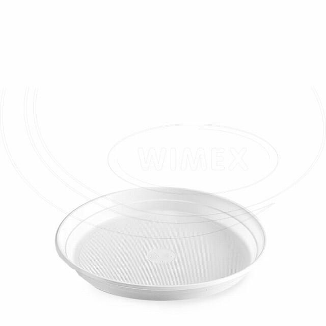Talíř bílý (PS) Ø 22 cm [100 ks]