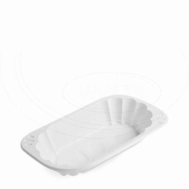 Miska oválná bílá (PS) 250 ml [100 ks]