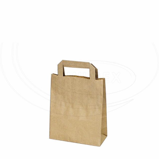 Papírová taška 18+8 x 22 cm hnědá [50 ks]