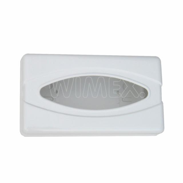 Plast. zásobník kosmetických kapesníčků + rukavic, bílý [1 ks]