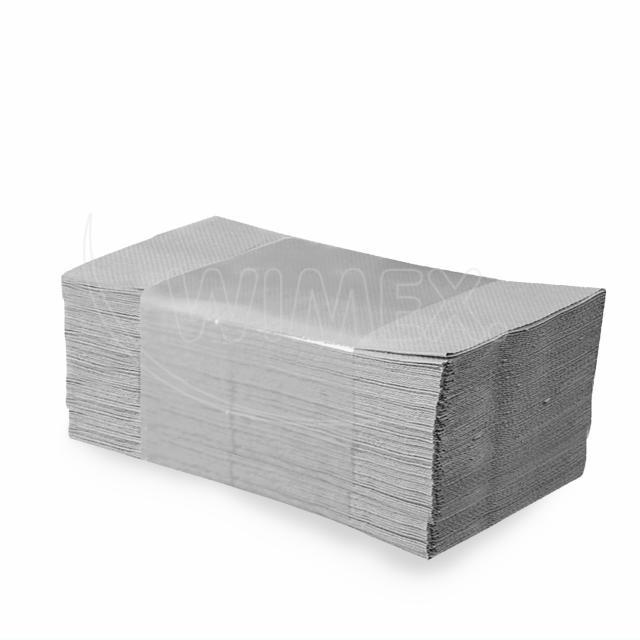 Papírový ručník skládaný ZZ, 25 x 23 cm, natural [5000 ks]