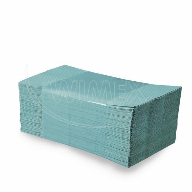 Papírový ručník skládaný ZZ, 25 x 23 cm, zelený [5000 ks]