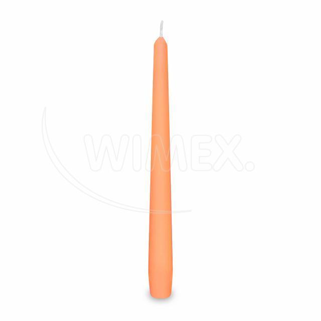 Svíčka kónická 245 mm apricot [10 ks]
