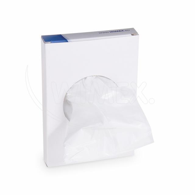 Hygienický sáček bílý (HDPE) 8+6 x 25 cm [30 ks]